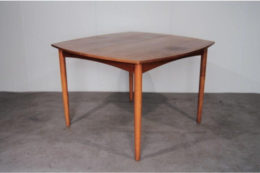 Danish Teak Square Extendable Dining Table, 1960S | Vinterior Regarding Square Extendable Dining Tables (Image 2 of 25)