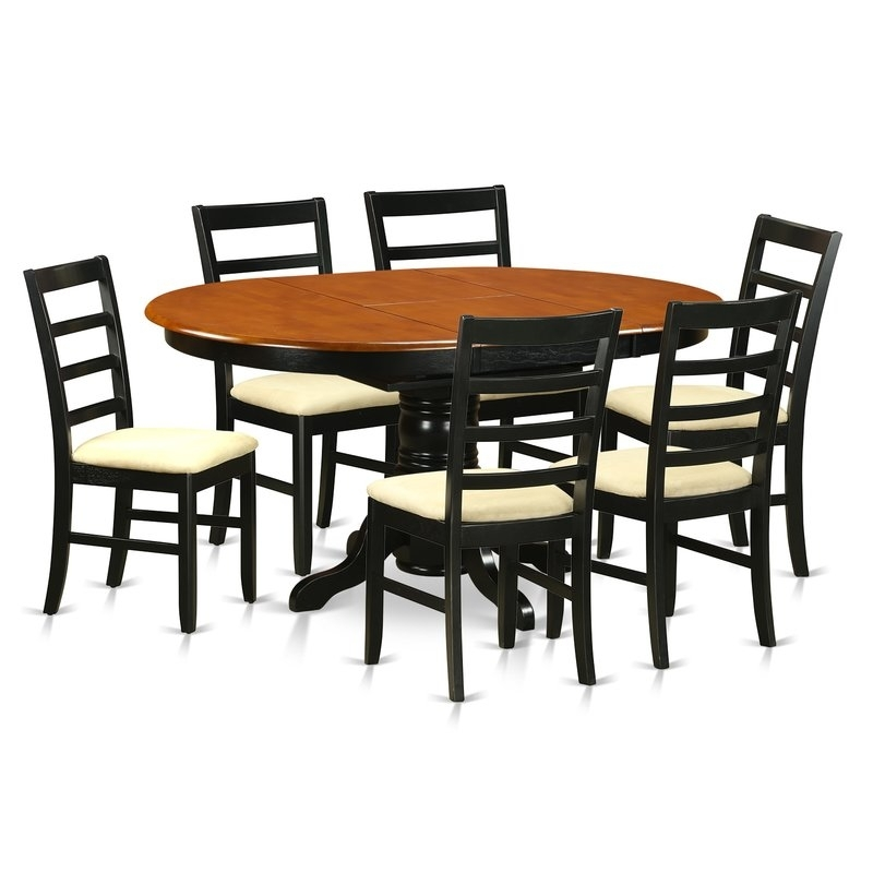 Darby Home Co Attamore 7 Piece Dining Set | Wayfair with regard to Chandler 7 Piece Extension Dining Sets With Wood Side Chairs