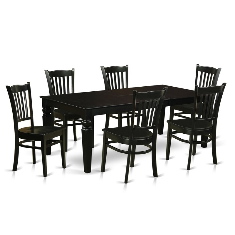 Darby Home Co Beldin 7 Piece Dining Set | Wayfair For Candice Ii 6 Piece Extension Rectangle Dining Sets (Image 9 of 25)