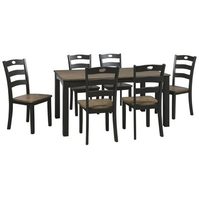 Darby Home Co Fager 7 Piece Dining Set In 2018 | Products Regarding Market 7 Piece Dining Sets With Side Chairs (Image 8 of 25)