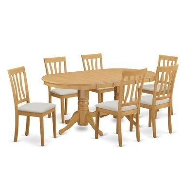 Darby Home Co Rockdale 7 Piece Dining Set In 2018 | Products With Regard To Norwood 9 Piece Rectangular Extension Dining Sets With Uph Side Chairs (Image 2 of 25)