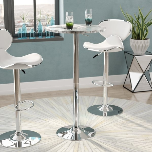 Darby Pub Table | Wayfair Regarding Ina Pewter 60 Inch Counter Tables With Frosted Glass (View 8 of 25)