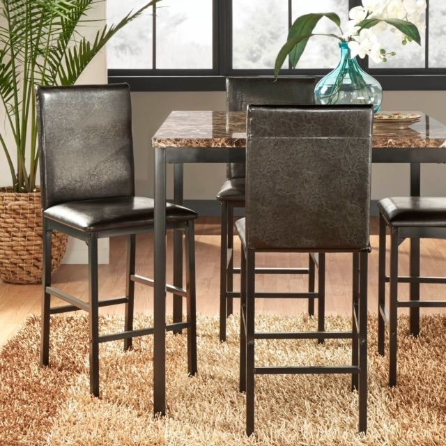 Darcy Metal Upholstered Counter Height Dining Chairs (Set Of 4) Pertaining To Ebay Dining Chairs (Image 6 of 25)