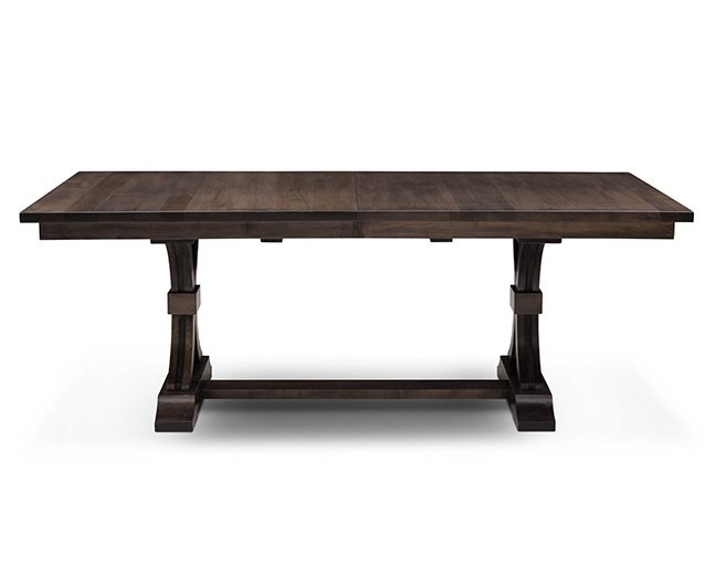Dark Brown – Dining Tables, Kitchen Tables | Furniture Row Throughout Magnolia Home Double Pedestal Dining Tables (Image 3 of 25)