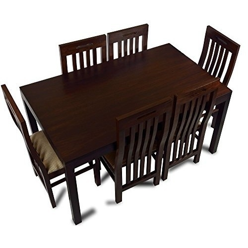 Dark Brown Wooden Dining Table Set, Rs 27500 /set, Brown Elephant Inside Dark Brown Wood Dining Tables (Image 9 of 25)
