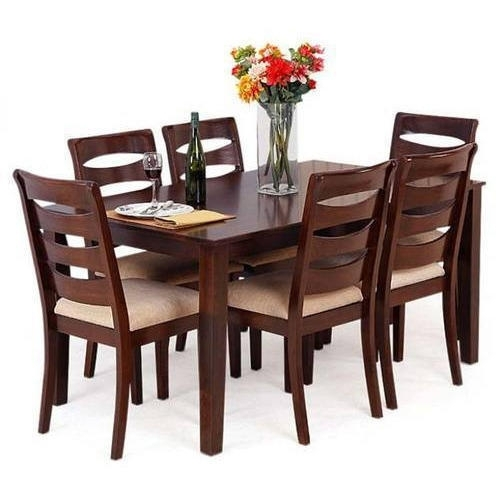 Dark Brown Wooden Dining Table Set, Rs 55000 /set, Wood Dzine In Dark Brown Wood Dining Tables (Image 10 of 25)