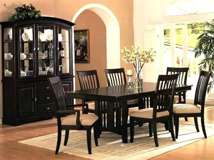 Dark Dining Room Table – Veniceart With Dark Wood Dining Room Furniture (Image 4 of 25)