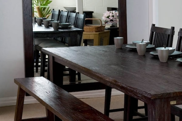 Dark Finish   Dining Furniture   Wooden   Table Pertaining To Balinese Dining Tables (Image 15 of 25)