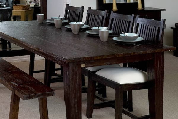 Dark Finish | Dining Furniture | Wooden | Table Throughout Bali Dining Tables (Image 11 of 25)