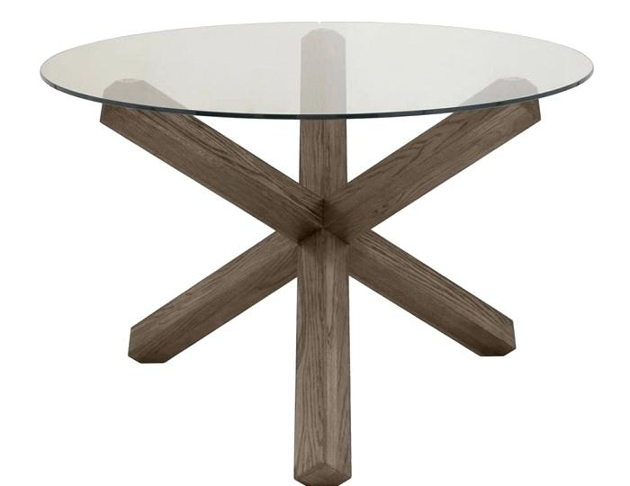 Dark Oak Dining Tables And Chairs Table Uk Nz Glass Round Hunt With Regard To Glass Oak Dining Tables (Image 8 of 25)