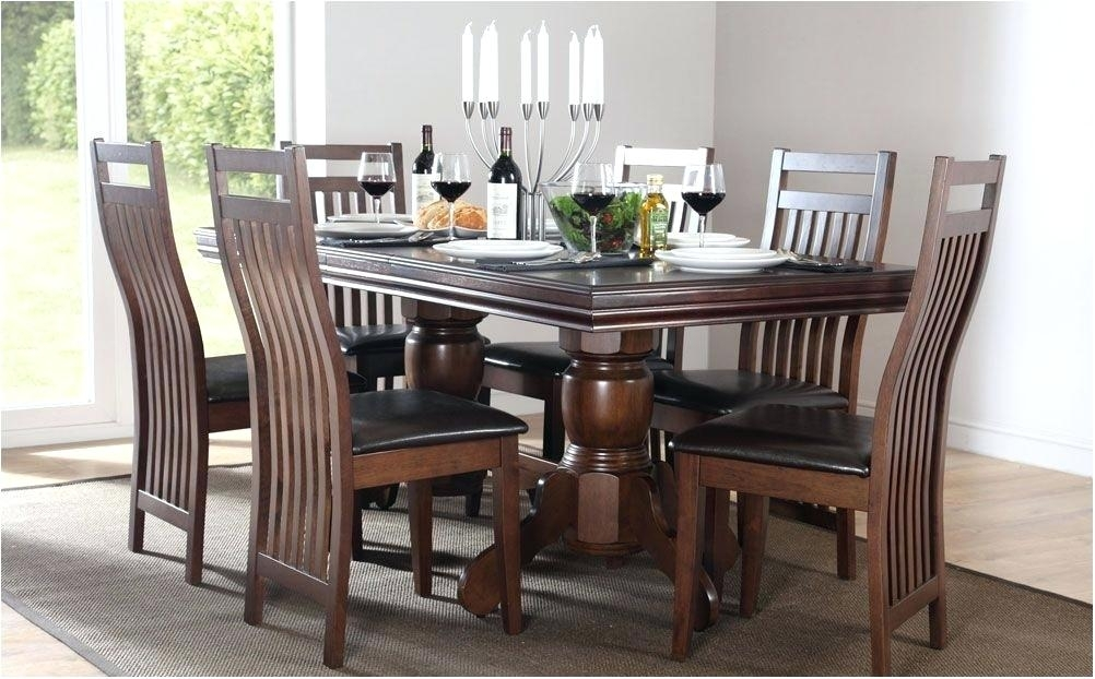 Dark Wood And White Dining Table Dark Wood Dining Table White Chairs Within Dark Wood Dining Tables And Chairs (View 17 of 25)