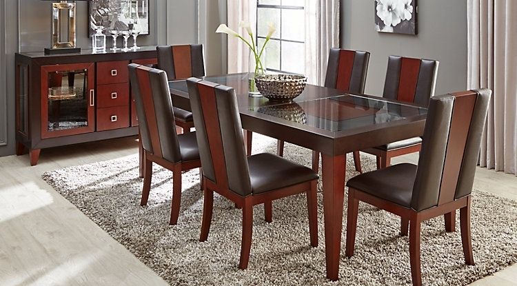 Dark Wood Dining Room Sets Cherry Espresso Mahogany Brown Etc Intended For Mahogany Dining Tables Sets (Image 6 of 25)