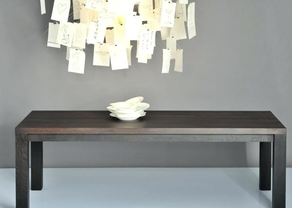 Dark Wood Dining Table Blond Wood Dining Table With Dark Gray Tufted For Dark Wooden Dining Tables (Image 10 of 25)