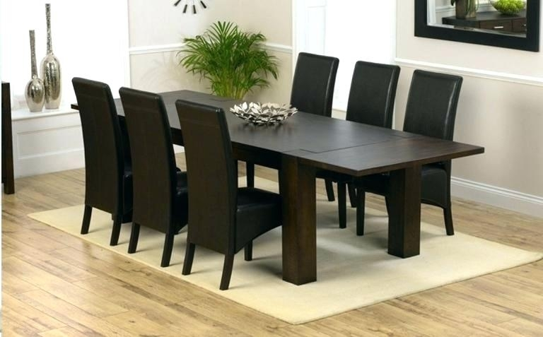 Dark Wood Dining Table Gorgeous Small Room Sets With White Chairs D Intended For Dark Wood Dining Tables (Image 6 of 25)