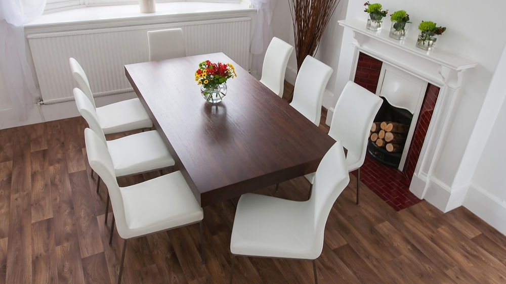 Dark Wood Dining Table Set – Castrophotos Within Solid Dark Wood Dining Tables (View 23 of 25)