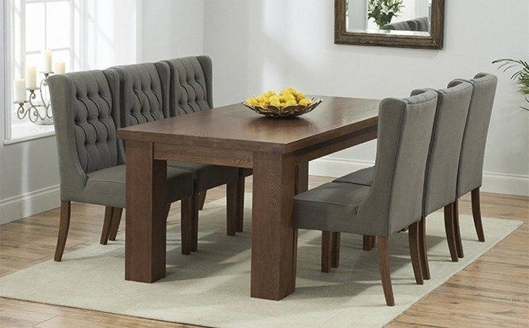 Dark Wood Dining Table Sets | Great Furniture Trading Company | The For Dark Wood Square Dining Tables (Image 8 of 25)