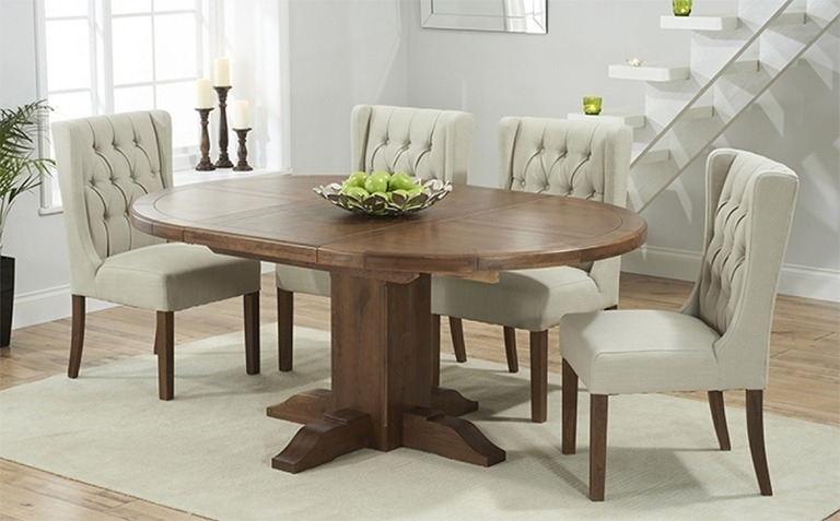Dark Wood Dining Table Sets | Great Furniture Trading Company | The For Extended Round Dining Tables (Image 7 of 25)