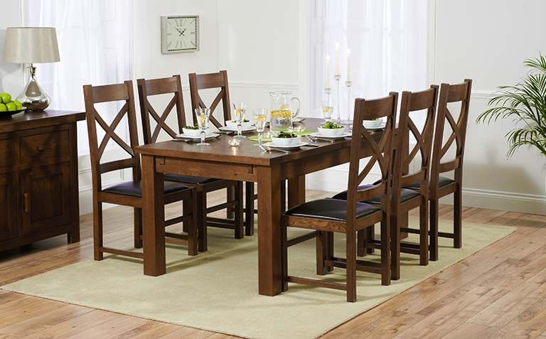 Dark Wood Dining Table Sets | Great Furniture Trading Company | The with regard to Solid Dark Wood Dining Tables