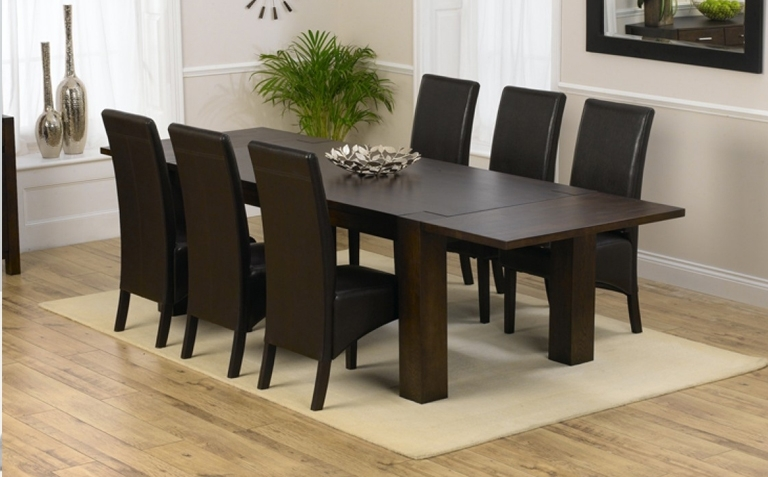 Dark Wood Dining Table Sets | Great Furniture Trading Company | The with regard to Wooden Dining Tables And 6 Chairs