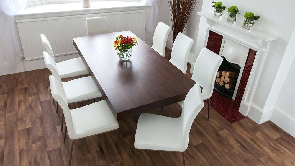 Dark Wood Dining Table With Leather Chairs – Modern Computer Desk Intended For Dark Wood Dining Tables And 6 Chairs (Image 11 of 25)