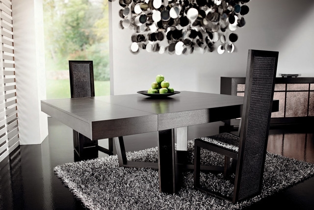 Dark Wood Dining Tablerattanwood Throughout Dark Dining Tables (Image 8 of 25)