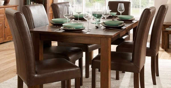 Dark Wood Furniture   Cfs Dark Wood Bedroom & Dining Range With Dining Tables Dark Wood (View 24 of 25)