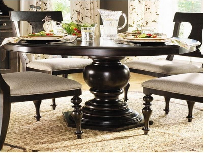 Dark Wood Round Dining Table – Photos Table And Pillow Weirdmonger For Caira Black Round Dining Tables (Image 16 of 25)