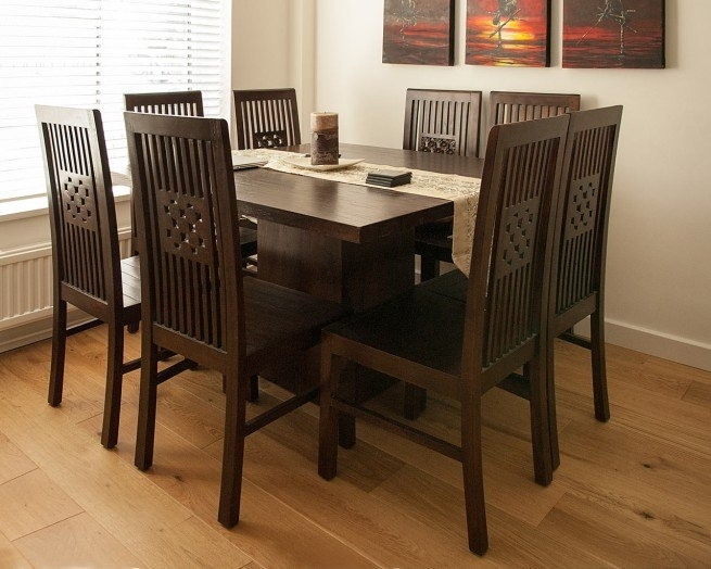 Dark Wood Square Table – Contemporary Teak Dining Tables In Dark Wood Square Dining Tables (Image 11 of 25)