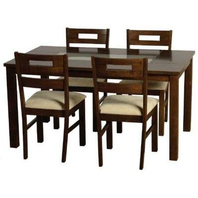 Dark Wooden Dining Table Set @ Homehighlight.co (Image 14 of 25)