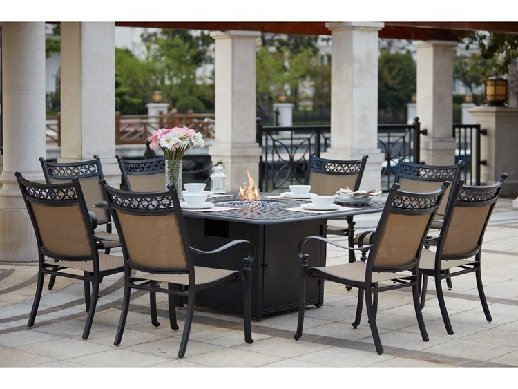 Darlee Outdoor Living Standard Mountain View Cast Aluminum 9  Piece With Regard To Valencia 72 Inch 7 Piece Dining Sets (Image 9 of 25)