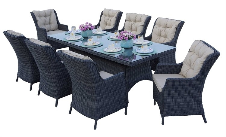 Darlee Outdoor Living Standard Valencia Wicker Dining Set | Valendinset7 Within Valencia 72 Inch 7 Piece Dining Sets (Image 10 of 25)