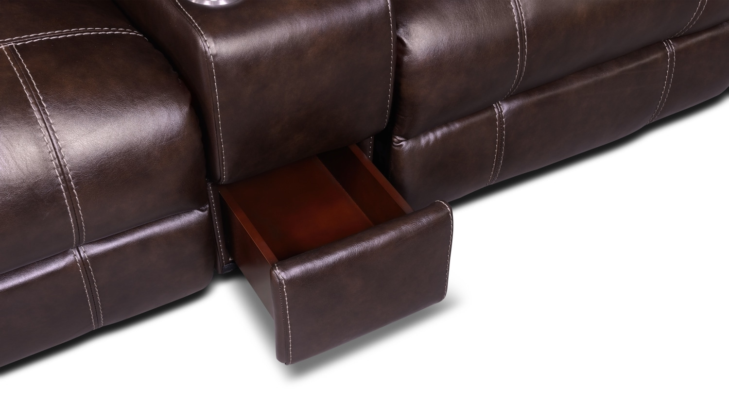 Dartmouth 6 Piece Power Reclining Sectional W/ Left Facing Chaise With Norfolk Chocolate 6 Piece Sectionals (Image 11 of 25)