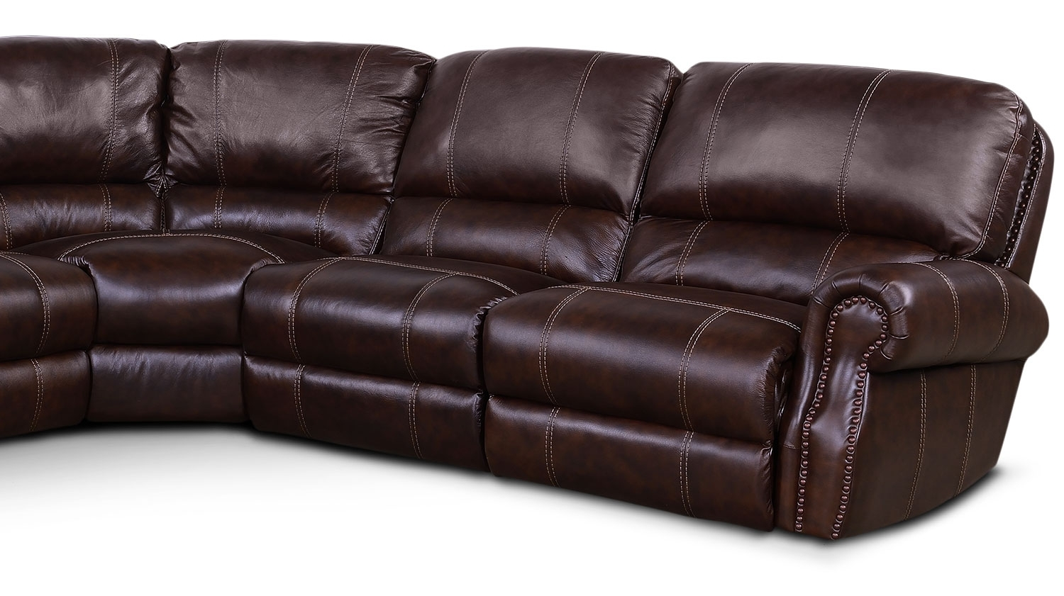 Dartmouth 6 Piece Power Reclining Sectional W/ Left Facing Chaise Within Norfolk Chocolate 6 Piece Sectionals With Raf Chaise (Image 8 of 25)