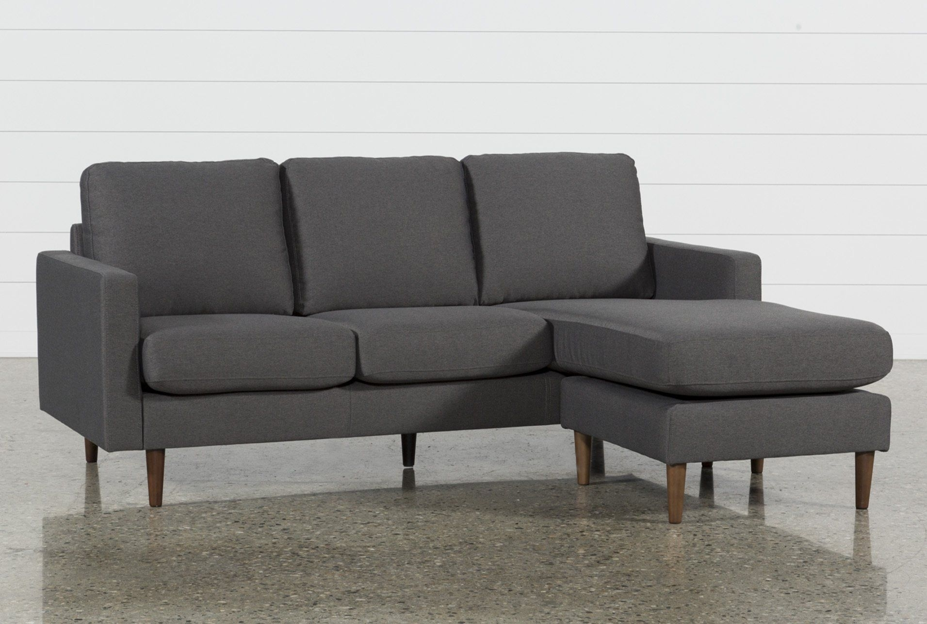 David Dark Grey Reversible Sofa Chaise | Dark Grey And Products With Mcdade Graphite 2 Piece Sectionals With Laf Chaise (Image 5 of 25)