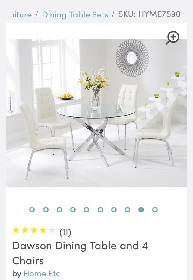 Dawson Dining Table & 4 Chairs | In Binley, West Midlands | Gumtree With Dawson Dining Tables (Image 8 of 25)