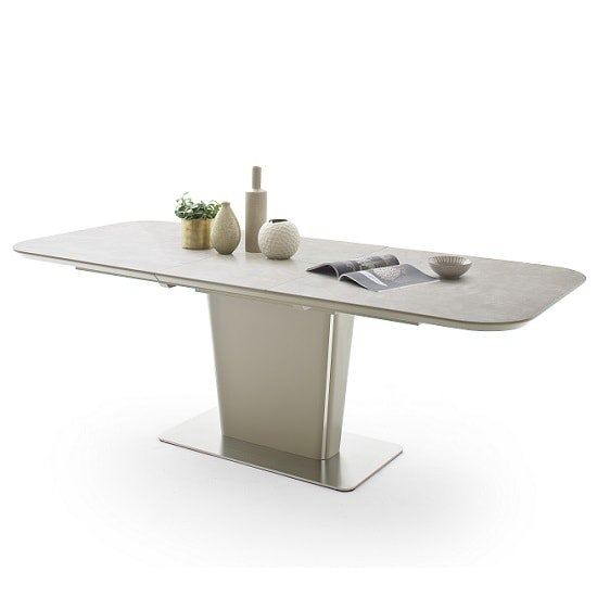 Dawson Extendable Dining Table Rectangular In Taupe 34880 Within Dawson Dining Tables (Image 14 of 25)