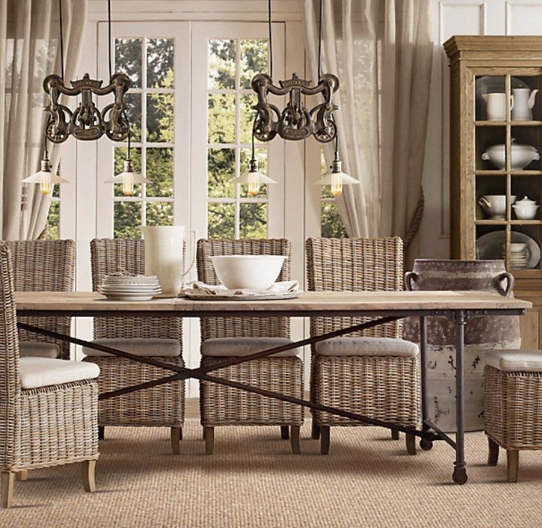 Day 9: Dining Chairs! | Decor Ideas | Pinterest | Rattan Dining Pertaining To Rattan Dining Tables And Chairs (Image 3 of 25)