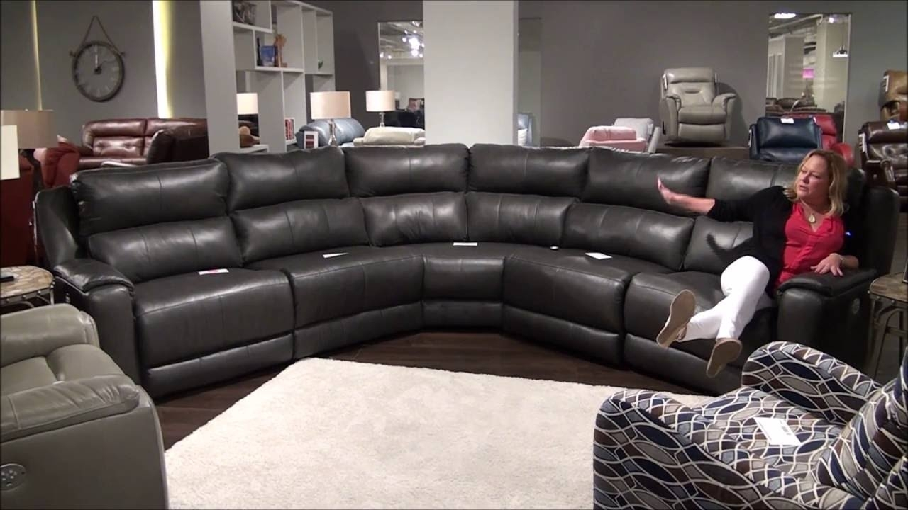 Dazzle Reclining Sectional With Power Headrestssouthern Motion Within Marcus Grey 6 Piece Sectionals With Power Headrest & Usb (View 15 of 25)