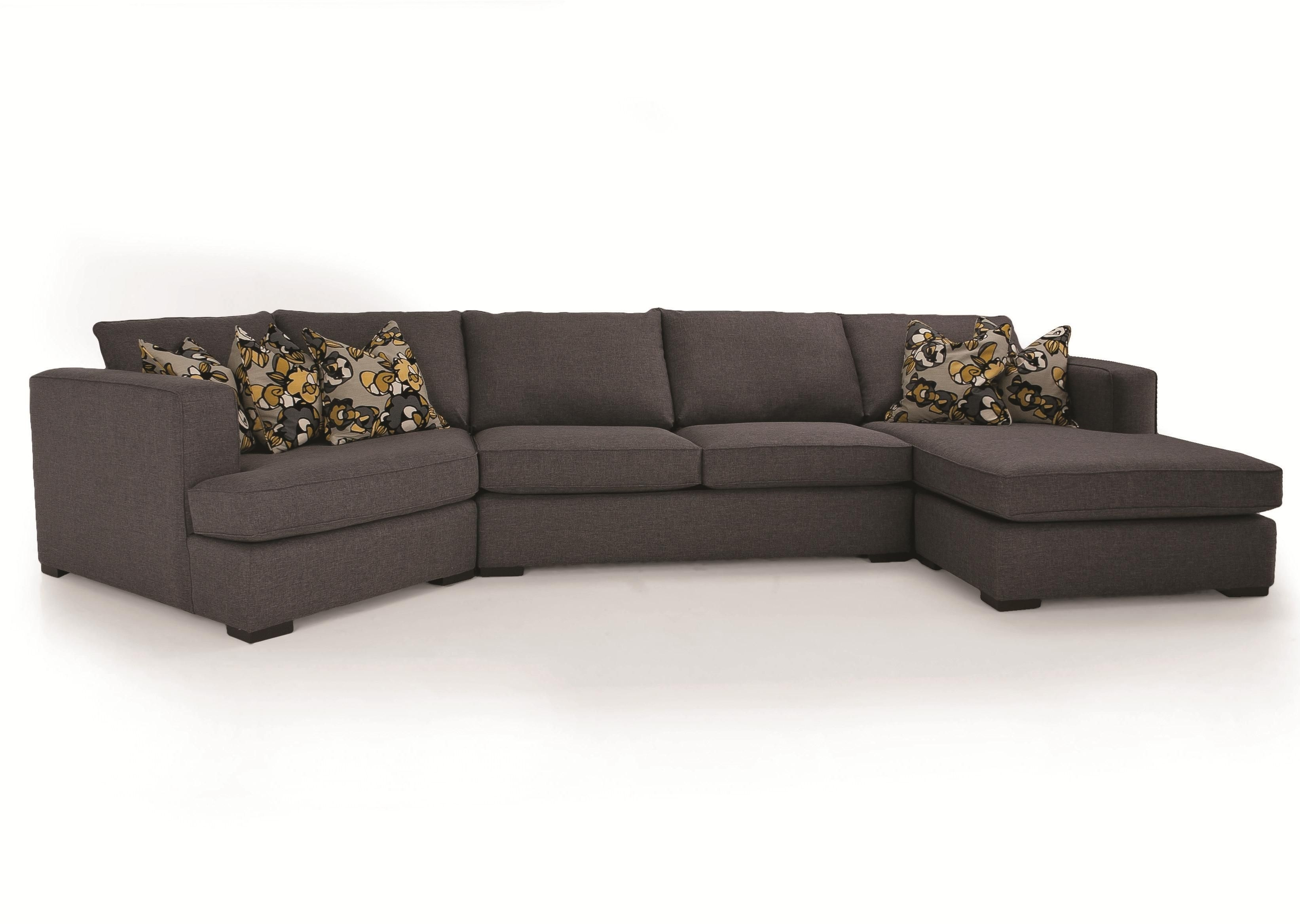 Decor Rest 2900 3 Piece Contemporary Sectional With Lhf Cuddler At Intended For Blaine 3 Piece Sectionals (Image 10 of 25)