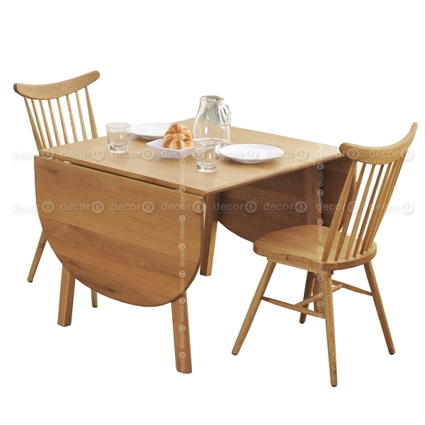 Decor8 Modern Furniture Jasper Solid Oak Foldable Dining Table within Wood Folding Dining Tables