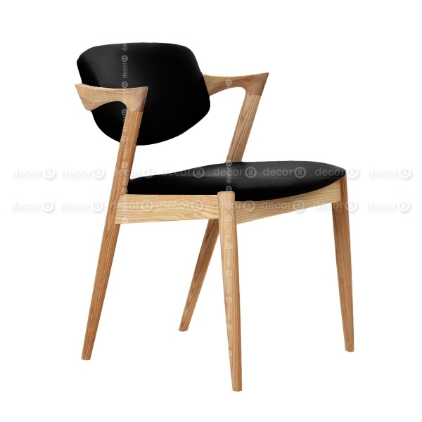Decor8 Modern Furniture Kai Oak Dining Chair – Solid Wood Dining For Oak Dining Chairs (Image 8 of 25)