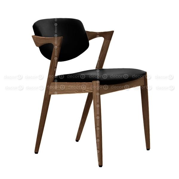 Decor8 Modern Furniture Kai Oak Walnut Dining Chair – Solid Wood Regarding Oak Leather Dining Chairs (Image 11 of 25)