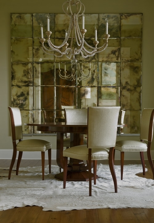 Decorate Dining Rooms With Large Mirrors With Regard To Antique Mirror Dining Tables (View 9 of 25)