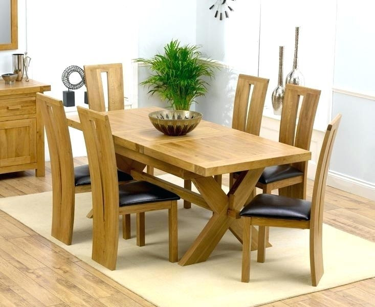 Decoration: 6 Chair Dining Table Lovely Solid Oak Tables And Chairs Regarding Oak 6 Seater Dining Tables (Image 17 of 25)