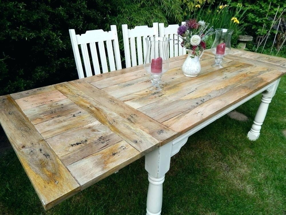 Decoration: 8 Foot Dining Table throughout Shabby Chic Extendable Dining Tables