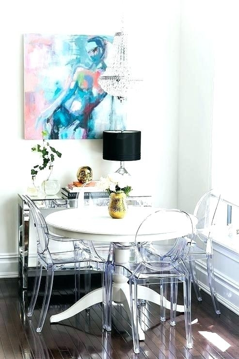 Decoration: Clear Acrylic Dining Table And Chairs For Acrylic Round Dining Tables (View 25 of 25)