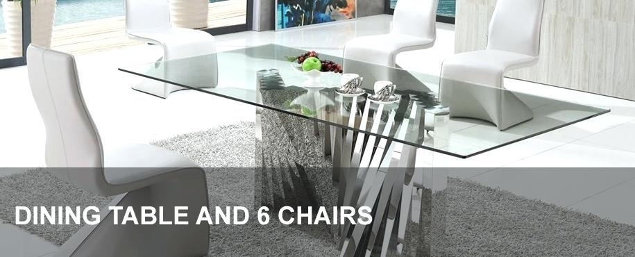 Decoration: Glass Dining Table And 6 Chairs Extending (Image 6 of 25)