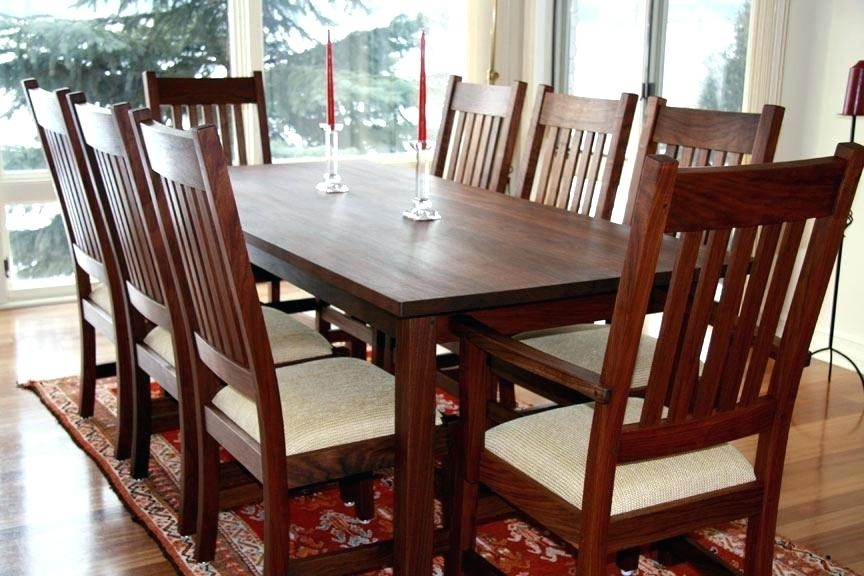 Decoration: Mid Century Modern Round Walnut Dining Table Custom Made Regarding Walnut Dining Table Sets (View 21 of 25)
