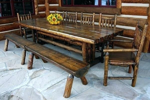 Decoration: Picnic Style Dining Table Within Indoor Picnic Style Dining Tables (Image 2 of 25)