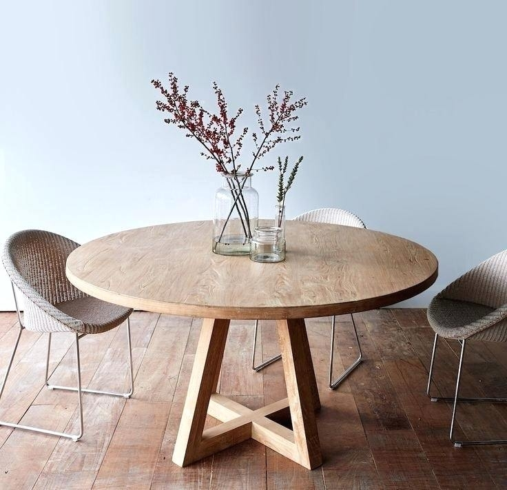 Decoration: Round Teak Dining Table Intended For Round Teak Dining Tables (Image 6 of 25)